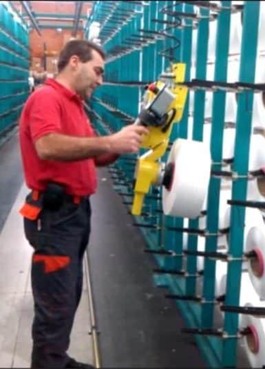 Bobines de fibre textile