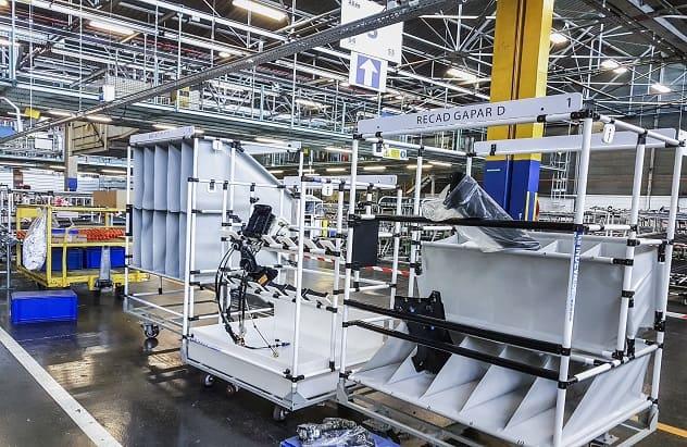 Lean Manufacturing - riešenia manipulácie s materiálom - Modulárne konštrukcie