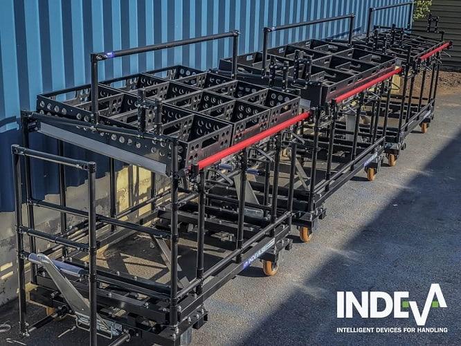 Grâce à une simulation 3D précise de nos chariots Kitting, nous pouvons vous proposer une large gamme d'affichages et de solutions de stockage sur mesure.