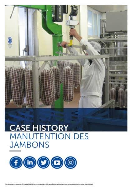 Les succès d'Indeva : manipuler les jambons avec précision, améliorer l'ergonomie et la sécurité au sein de l'entreprise et en même temps la productivité.