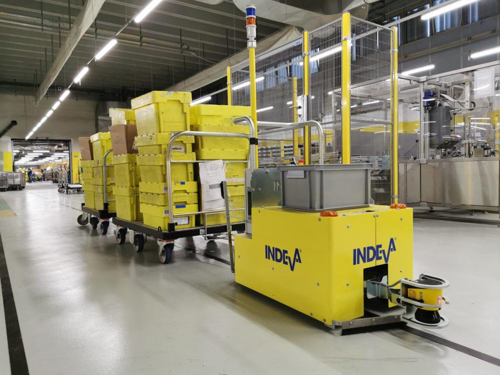 INDEVA AGV для сортировки почты
