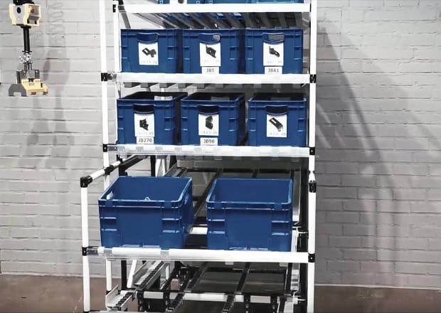 Station de travail combinée avec le chariot Shooter