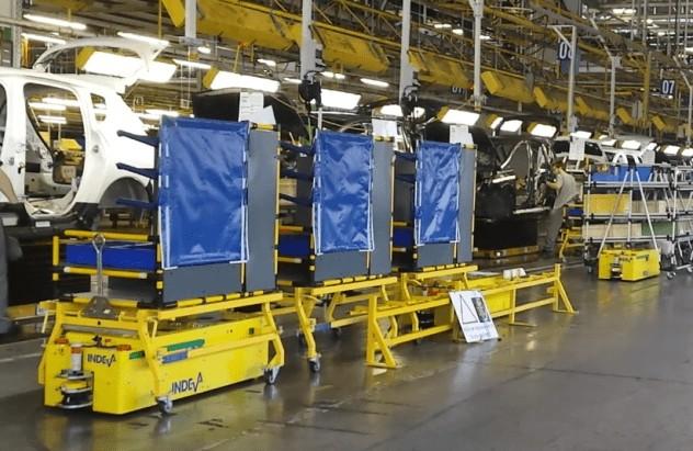 AGV INDEVA pour accélérer le processus de production et éviter les opérations répétitives.