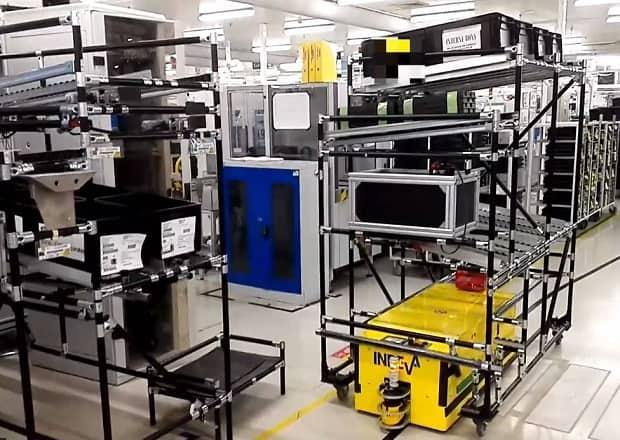 Tunnel AGV dans l'industrie automobile