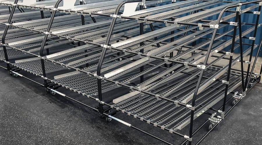 Nos chemins de roulement dynamiques offrent la possibilité d'utiliser au mieux l'espace disponible dans votre entrepôt