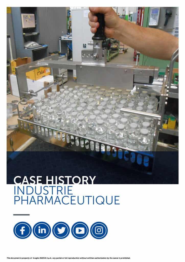 Les études de cas d'INDEVA : manipuler les articles de l'industrie pharmaceutique en toute ergonomie et sécurité, en augmentant la productivité.