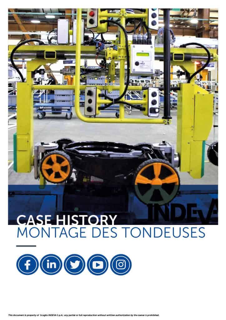 Les études de cas Indeva : Assembler les tondeuses en toute sécurité et avec précision, augmenter la productivité de l'entreprise.